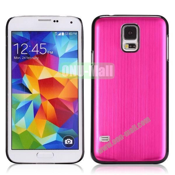 Glossy Brushed Aluminum Protective Hard Case for Samsung Galaxy S5 I9600 G900 (Rose)
