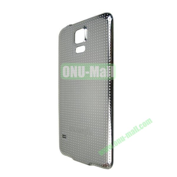 Electroplated Hard PC Battery Back Cover Housing Case for Samsung Galaxy S5 I9600 G900 (Silver)