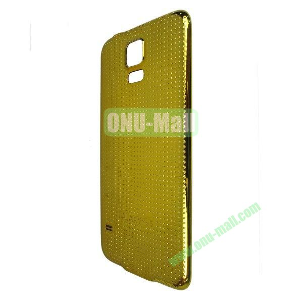 Electroplated Hard PC Battery Back Cover Housing Case for Samsung Galaxy S5 I9600 G900 (Gold)