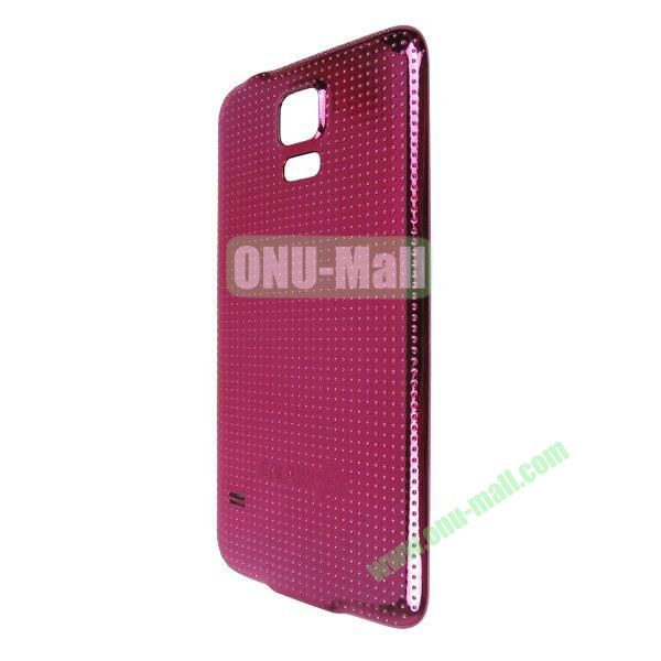 Electroplated Hard PC Battery Back Cover Housing Case for Samsung Galaxy S5 I9600 G900 (Rose)