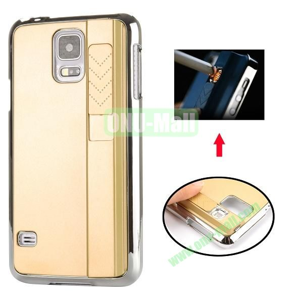 New Arrival Creative Cigarette Lighter Phone Case For Samsung Galaxy S5 I9600 G900 (Gold)