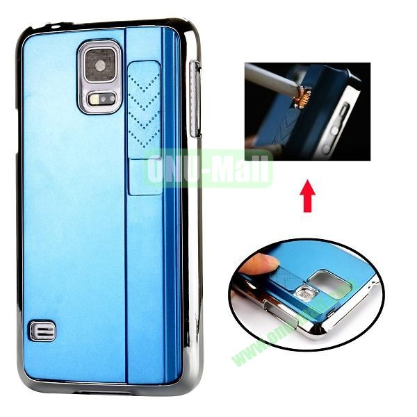 New Arrival Creative Cigarette Lighter Phone Case For Samsung Galaxy S5 I9600 G900 (Blue)