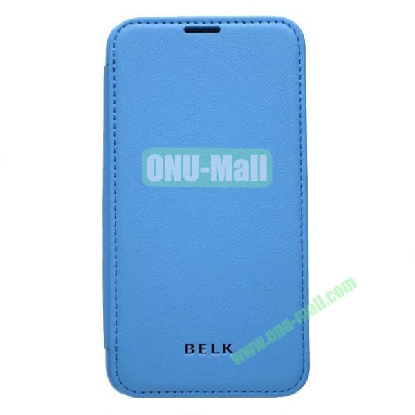 Original BELK Official Lichee Leather Case Cover for Samsung Galaxy S5  I9600 with Magnet (Blue)