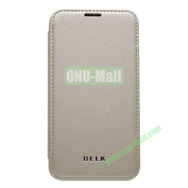 Original BELK Official Lichee Leather Case Cover for Samsung Galaxy S5  I9600 with Magnet (Grey)