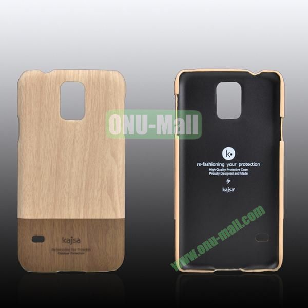 Kajsa Dual Color Wood Pattern Hard Case for Samsung Galaxy S5i9600 ( White )