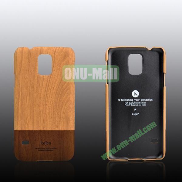 Kajsa Dual Color Wood Pattern Hard Case for Samsung Galaxy S5i9600 ( Yellow )