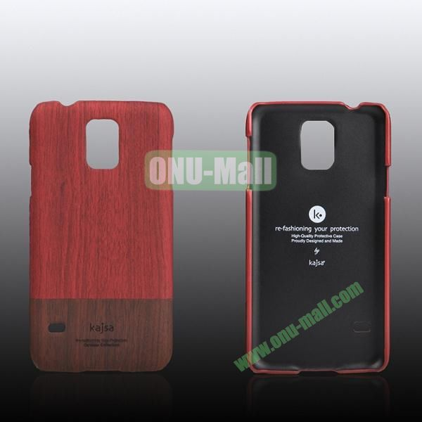 Kajsa Dual Color Wood Pattern Hard Case for Samsung Galaxy S5i9600 ( Red )