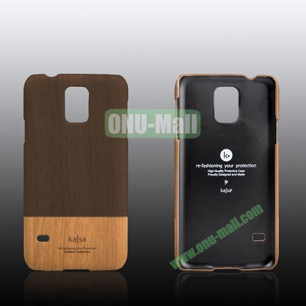 Kajsa Dual Color Wood Pattern Hard Case for Samsung Galaxy S5i9600 ( Brown )