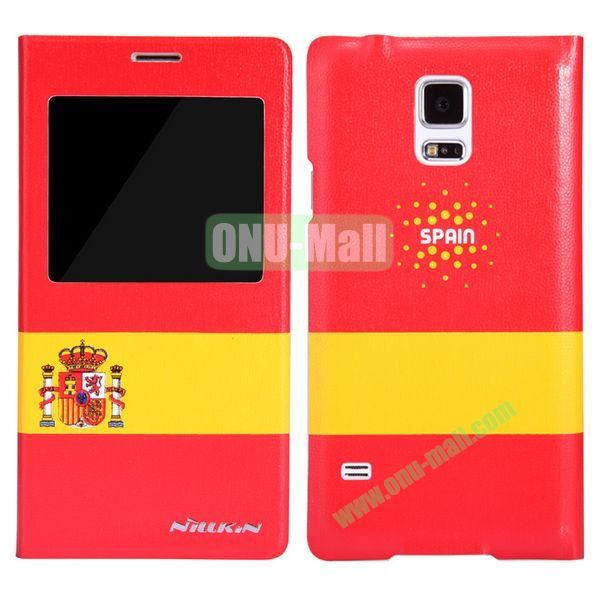 Nillkin FIFA World Cup Series Pattern Flip Leather Case Battery Back Cover for Samsung Galaxy S5 I9600 G900 with Smart Wake Sleep Function (Spain)