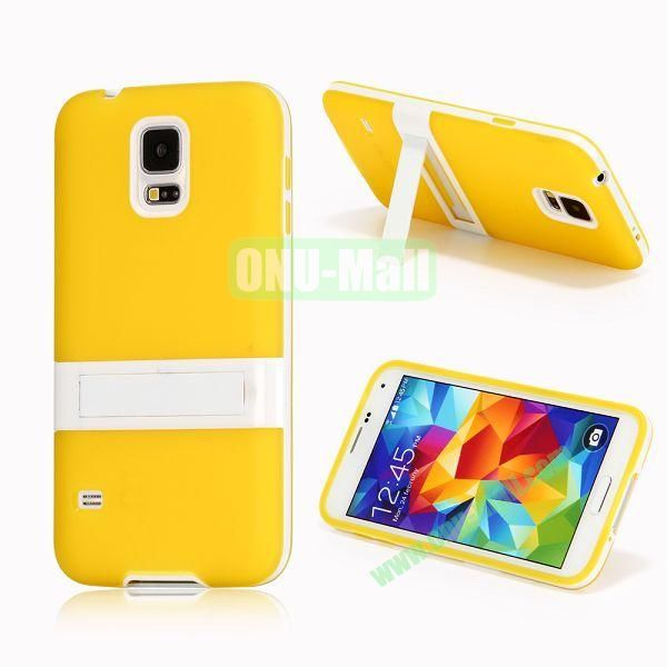 Detachable Frosted TPU Case for Samsung Galaxy S5 i9600 G900 (Yellow)