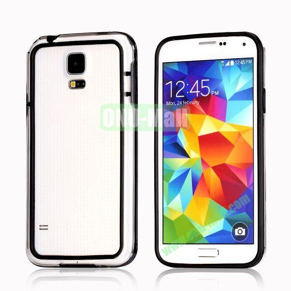 Transparent Bumper Frame Case For Samsung Galaxy S5 i9600 G900 (Black)