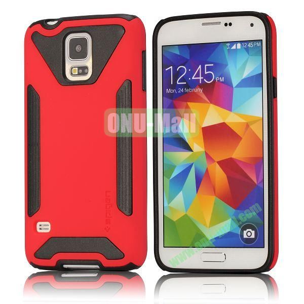 Dual-color Detachable Hard Back Case for Samsung Galaxy S5 I9600 G900 (Red)