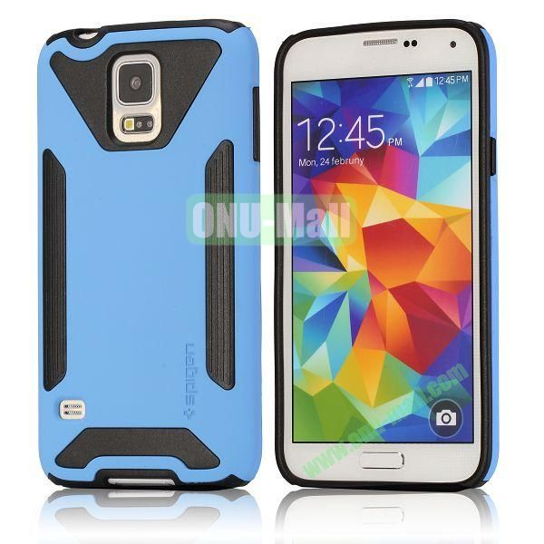 Dual-color Detachable Hard Back Case for Samsung Galaxy S5 I9600 G900 (Blue)