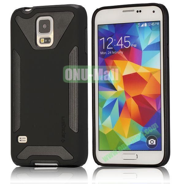 Dual-color Detachable Hard Back Case for Samsung Galaxy S5 I9600 G900 (Black)