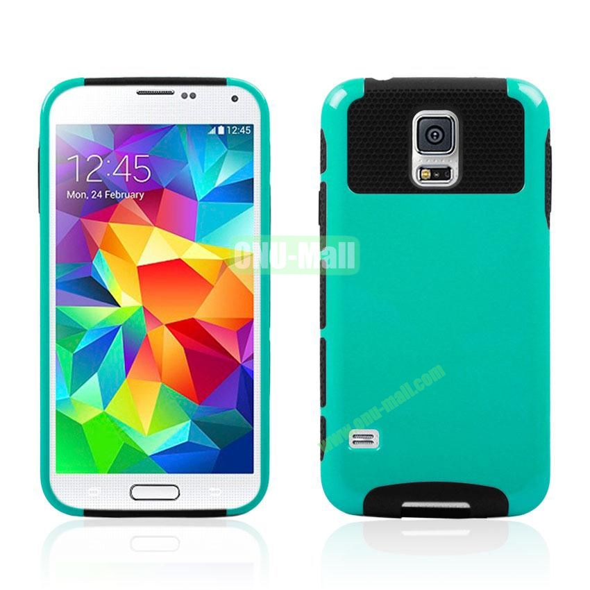 Dual Layer Detachable Hard Case for Samsung Galaxy S5 I9600 G900 (Green+Black)