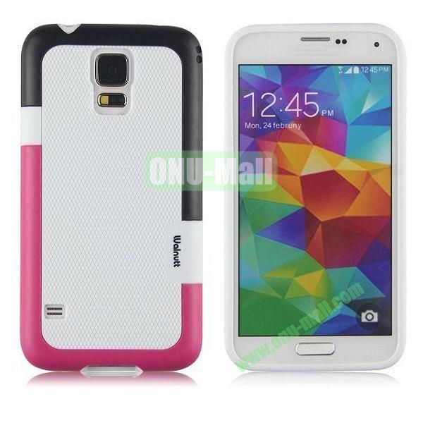 Fashion Double Color TPU Case for Samsung Galaxy S5 I9600 G900 (White)