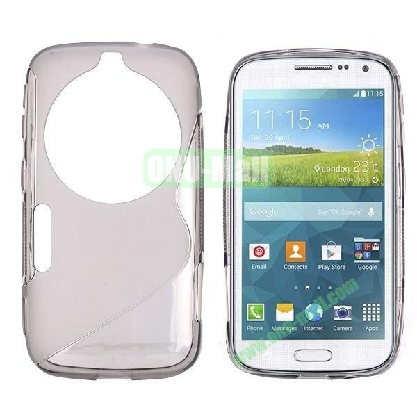 S Shape TPU Case Cover For Samsung Galaxy K Zoom S5 SM-C115 C1116 (Grey)