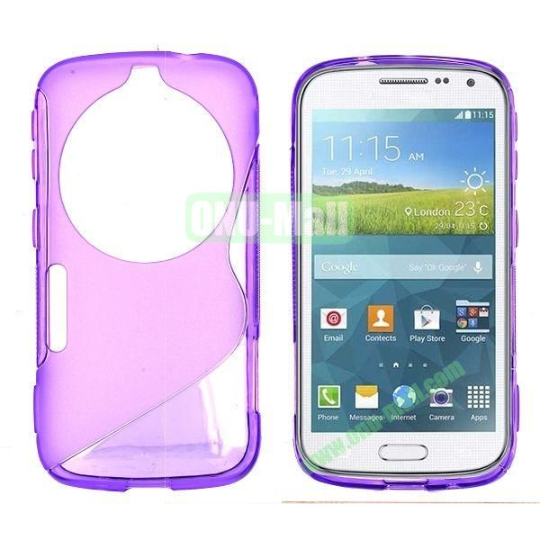 S Shape TPU Case Cover For Samsung Galaxy K Zoom S5 SM-C115 C1116 (Purple)