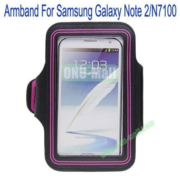 Sport Gym Running Armband Case Pouch for Samsung Galaxy Note 2N7100(Pink)