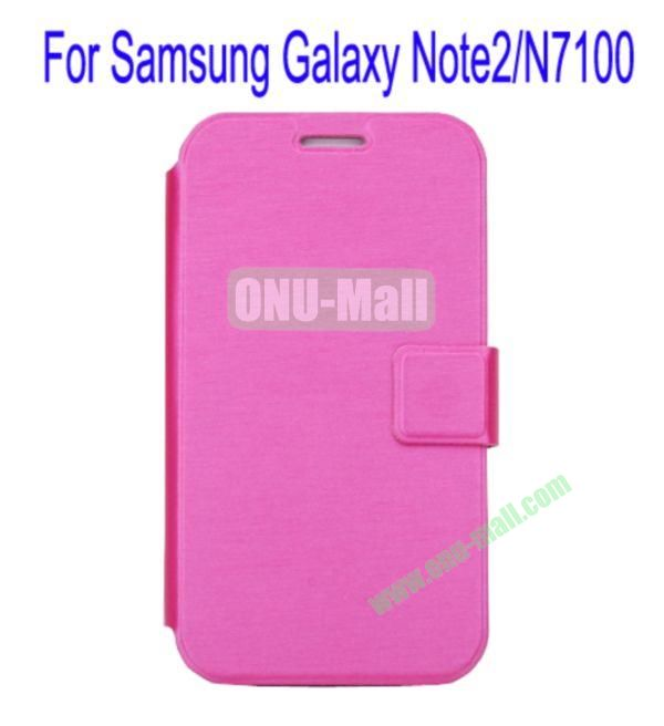 Ultrathin Magnetic Folio Stand Dormancy Case Cover for Samsung Galaxy Note2N7100(Rose)