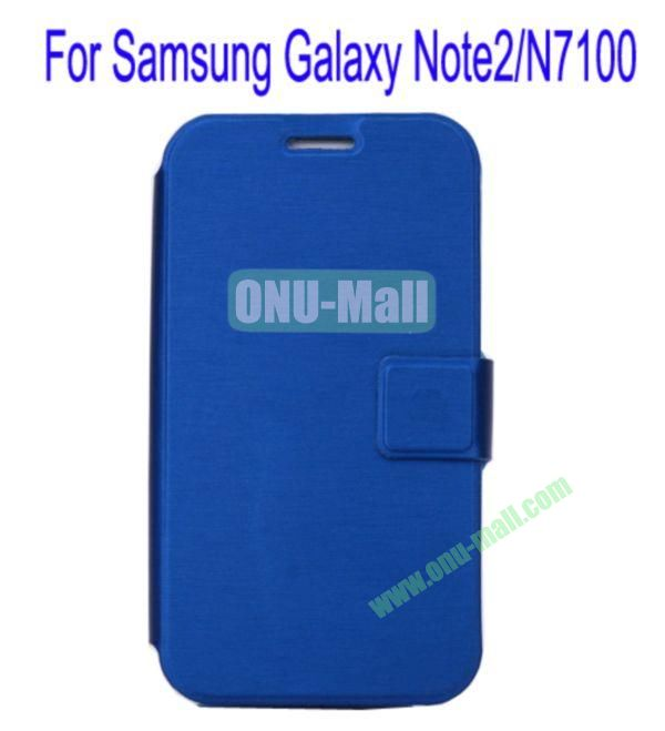 Ultrathin Magnetic Folio Stand Dormancy Case Cover for Samsung Galaxy Note2N7100(Blue)