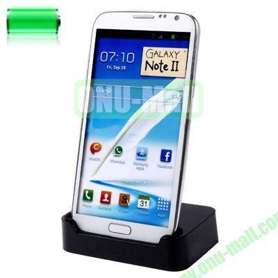 Desktop Dock Charger for Samsung Galaxy Note 2 II N7100(Black)
