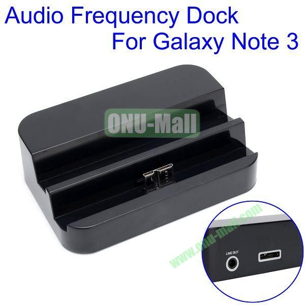 Stylish USB Sync Cradle Desktop Dock Charger for Samsung Galaxy Note 3  N9000 (Black)
