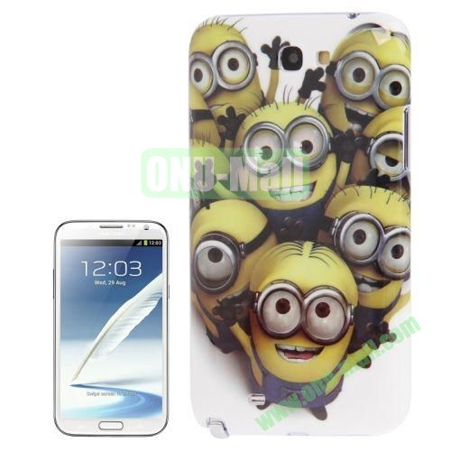 for Samsung Galaxy Note IIN7100 Minions Pattern Plastic Case