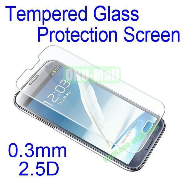 0.3mm 2.5D Tempered Glass Protection Screen Flim for Samsung Galaxy Note 2 N7100