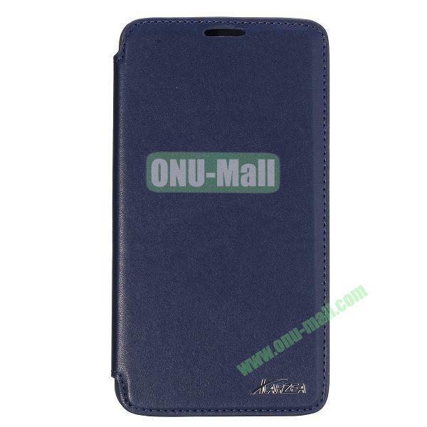 Karzea Smooth Texture Flip Leather Case for Samsung Galaxy Note 3 Lite N750 with Stand (Dark Blue)
