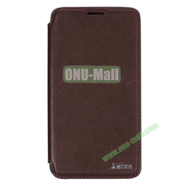 Karzea Smooth Texture Flip Leather Case for Samsung Galaxy Note 3 Lite N750 with Stand (Brown)
