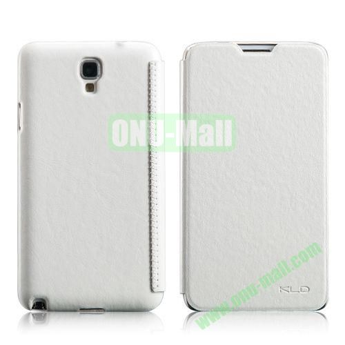 KLD Enland Series Crazy HorseTexture Flip Leather Case for Samsung Galaxy Note 3 Lite Neo N750 N7505 (White)