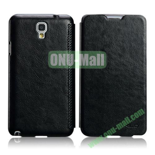 KLD Enland Series Crazy HorseTexture Flip Leather Case for Samsung Galaxy Note 3 Lite Neo N750 N7505 (Black)