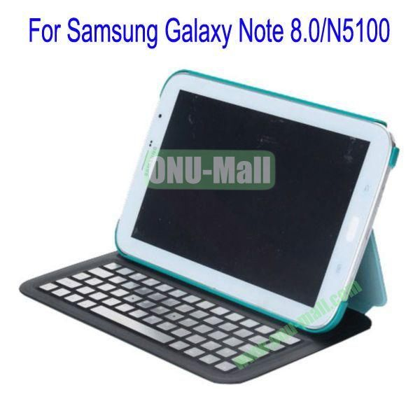 Ultrathin Flip Stand Bluetooth Keyboard Leather Case Cover for Samsung Galaxy Note 8.0N5100(Green)