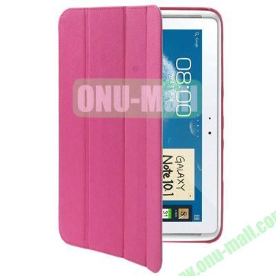 Belk Series Cross Texture 4-fold Leather Case for Samsung Galaxy Note (10.1)  N8000  N8010 with Holder (Rose)
