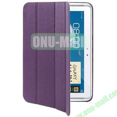 Belk Series Cross Texture 4-fold Leather Case for Samsung Galaxy Note (10.1)  N8000  N8010 with Holder (Purple)