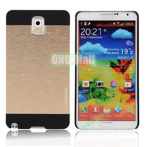 Motomo Aluminium Alloy Hard Case for Samsung Note 3  N9000 (Gold)