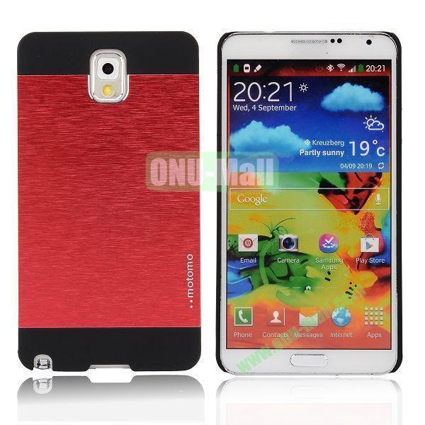 Motomo Aluminium Alloy Hard Case for Samsung Note 3  N9000 (Red)