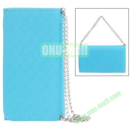 Handbag Style Plaid Texture Leather Case for Samsung Galaxy Note III  N9000 with Card Slots (Blue)