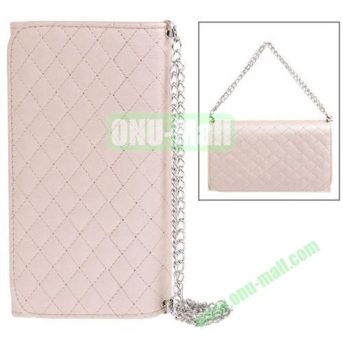Handbag Style Plaid Texture Leather Case for Samsung Galaxy Note III  N9000 with Card Slots (Pink)