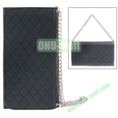 Handbag Style Plaid Texture Leather Case for Samsung Galaxy Note III  N9000 with Card Slots (Black)