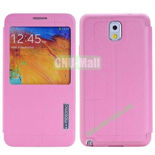 Litchi Texture Leather Case for Samsung Galaxy Note 3N9000 with Call Display ID (Pink)