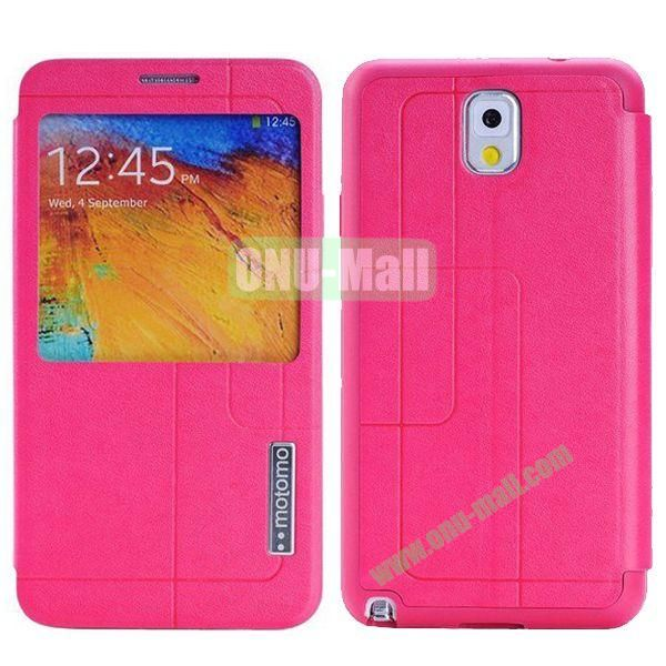 Litchi Texture Leather Case for Samsung Galaxy Note 3N9000 with Call Display ID (Rose)
