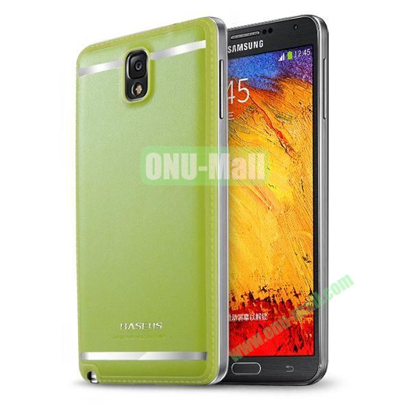 2014 New Brand Baseus Yuppie Series Battery Cover for Samsung Galaxy Note 3N9005 (Green)