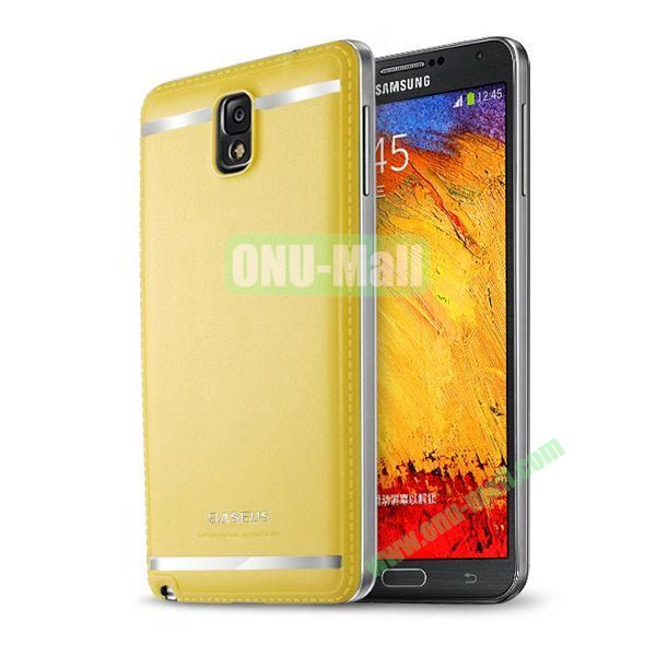 2014 New Brand Baseus Yuppie Series Battery Cover for Samsung Galaxy Note 3N9005 (Yellow)