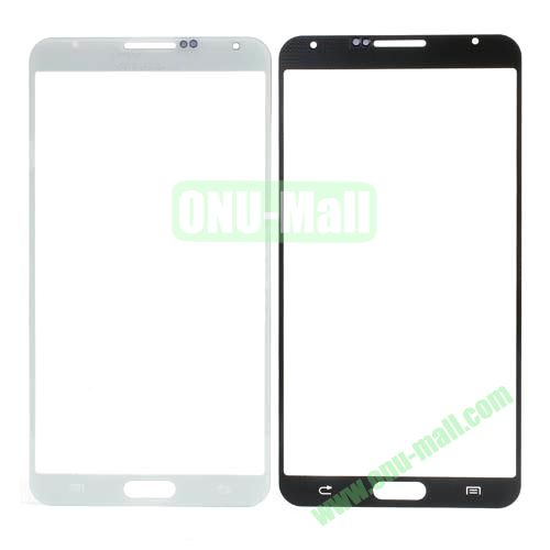 Grid Pattern Front Screen Glass Lens Cover for Samsung Galaxy Note 3 N9000 (White)