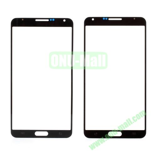 Grid Pattern Front Screen Glass Lens Cover for Samsung Galaxy Note 3 N9000 (Black)