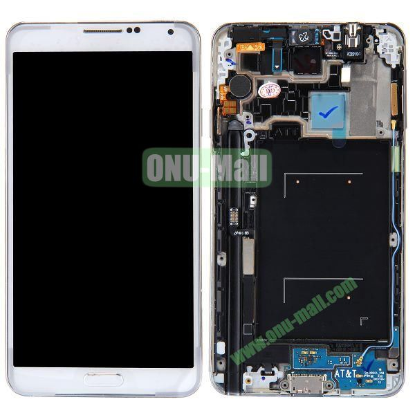 Spare Parts Charging Port+Vibrator+Sensor Light Flex Cable+Volume Button+Home Button+Front Camera+Receiver Flex Cable Repacement for Samsung Galaxy Note 3 N9000 (White)