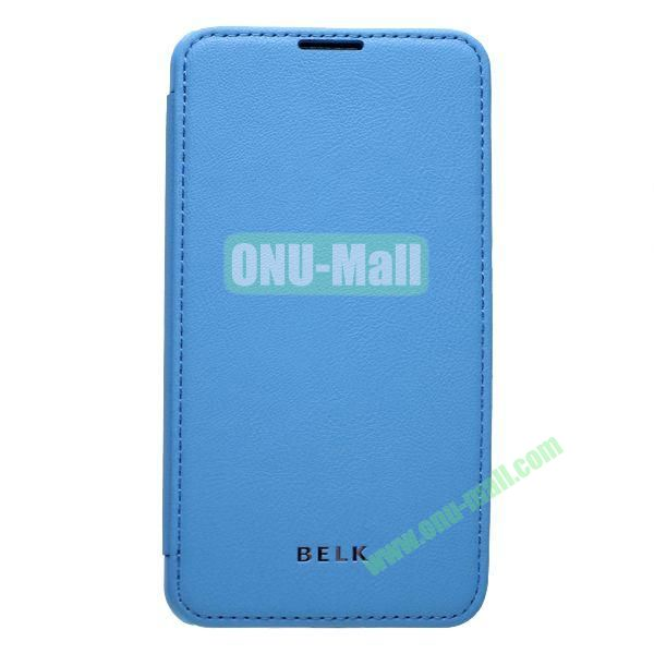 Original BELK Official Lichtee Leather Case Cover for Samsung Galaxy Note 3  N9000 with Magnet (Blue)