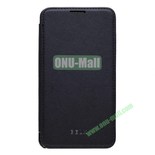 Original BELK Official Lichtee Leather Case Cover for Samsung Galaxy Note 3  N9000 with Magnet (Black)